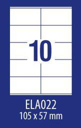 Avery Zweckform ETYK.ZF ECONOMY 105X57MM 022 100ARK ETYKIETA E100 ELA022 - ELA022