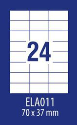 Avery Zweckform ETYK.ZF ECONOMY 70X37,1MM 011 100ARK ETYKIETA E100 ELA011 - ELA011