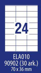 Avery Zweckform ETYK.ZF ECONOMY 70X36MM 010 100ARK ETYKIETA E100 ELA010 - ELA010