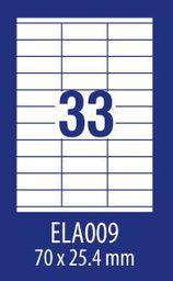 Avery Zweckform ETYK.ZF ECONOMY 70X25,4MM 009 100ARK ETYKIETA E100 ELA009 - ELA009