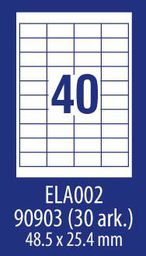 Avery Zweckform ETYK.ZF ECONOMY 48,5X25,4MM 002 100ARK ETYKIETA E100 ELA002 - ELA002