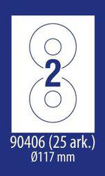 Avery Zweckform ETYK.ZF ECONOMY 117MM 90406 25ARK ETYKIETA NA CD E100 - 90406