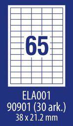 Avery Zweckform ETYK.ZF ECONOMY 38X21,2MM 001 100ARK ETYKIETA E100 ELA001 - ELA001