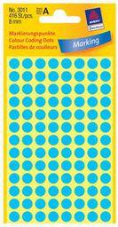 Avery Zweckform ETYK.ZF 3011 8 MM KÓŁKA NIEBIESKIE ETYKIETA - 3011