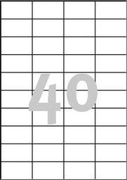 Avery Zweckform ETYK.ZF 3651 52,5X29,7 B.MAR./4000 ETYKIETA - 3651