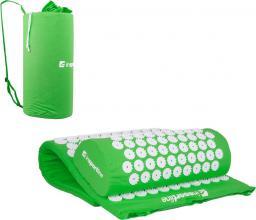 inSPORTline Zestaw do akupresury - mata i poduszka Alavea Kolor Zielony - 16119-1
