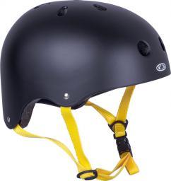 WORKER Kask na rower, rolki, deskorolkę, fiszkę Rivaly Kolor żółty pasek, Rozmiar L (58-60) - 14233