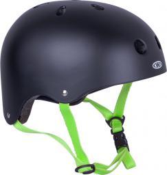 WORKER Kask na rower, rolki, deskorolkę, fiszkę Rivaly  zielony pasek r. XS (48-52) - 14233