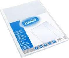 Bantex Koszulki groszkowe z klapą Maxi A4 110mic. 10szt. (100550133/2107-08)