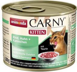 ANIMONDA  CARNY Kitten Kurczak, wołowina 200g