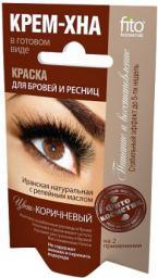 Fitocosmetics Kremowa henna do farbowania brwi i rzęs Brązowa 2x2ml