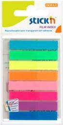 Stickn Zakładki indeks.samoprz. mix 8 kol. neon klasyczne (155307)
