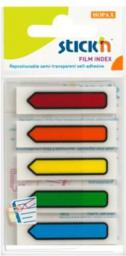 Stickn Zakładki indeks. samoprz. mix 5 kol. neon strzałki (155301)