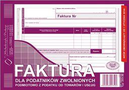 Michalczyk & Prokop D FAKTURA A5 2SKŁ.ZWOL.VAT 203-3E POZ. DRUK - 203-3E