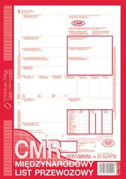 MICHALCZYK I PROKOP D CMR-MIĘDZYN.LIST PRZEWOZ.   800-3 DRUK - 800-3 K
