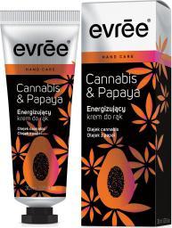 Evree Cannabis & Papaya Energizujący krem do rąk  30ml