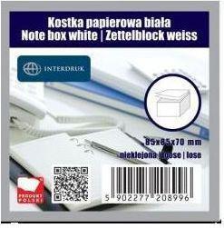 Interdruk Kostka papierowa biała 85x85x70 mm nieklejona (203798)