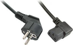 Kabel zasilający LINDY CEE7/7  - IEC 320, 3m, czarny   (30302)