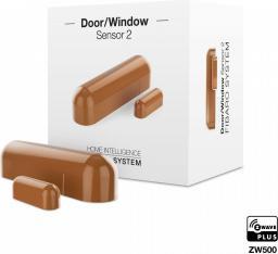 Fibaro Czujnik otwarcia drzwi/okna i temperatury Sensor 2 wewnętrzny cappuccino (FGDW-002-5)