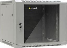 """Szafa NetRack wisząca 19"""", 9U/600x600mm –popiel, drzwi szklane, otwierane boki - 019-090-66-021"""