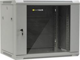 """Szafa NetRack wisząca 19"""", 9U/600x450mm – popiel, drzwi szklane, otwierane boki - 019-090-645-021"""