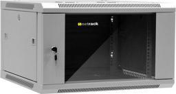 """Szafa NetRack wisząca 19"""", 6U/600x600mm – popiel, drzwi szklane, otwierane boki - 019-060-66-021"""