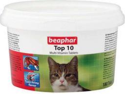 Beaphar TOP 10 Cat - preparat witaminowy z tauryną dla kota 180tabletek