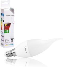 Whitenergy Żarówka LED 6 x SMD 2835, C37L, E14, 3W, ciepła biała, mleczna (10395)