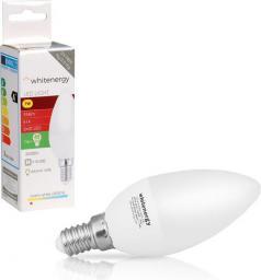 Whitenergy Żarówka LED 8 x SMD 2835, C37, E14, 7W, ciepła biała, mleczna (10394)