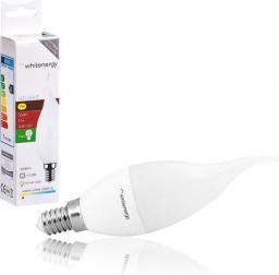 Whitenergy Żarówka LED 8 x SMD 2835, C37L, E14, 7W, ciepła biała, mleczna (10396)