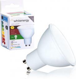 Whitenergy żarówka LED GU10, 6 x SMD 2835, 3W, mleczne, MR16 (10363)