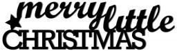 DekoSign Świąteczny napis na ścianę 3D MERRY LITTLE CHRISTMAS (MLC1-1)