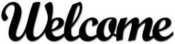 DekoSign Napis na ścianę 3D WELCOME czarny (WELCOME1-1)