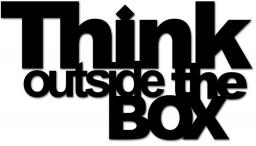 DekoSign Napis na ścianę 3D THINK OUTSIDE THE BOX czarny  (TOB1-1)