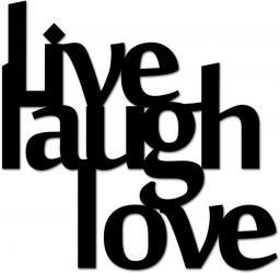 DekoSign Napis na ścianę 3D LIVE LAUGH LOVE czarny (LLL1-1)