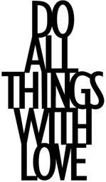 DekoSign Napis dekoracyjny 3D na półkę DO ALL THINGS WITH LOVE czarny (DAT1-1)