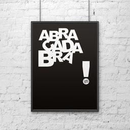 DekoSign Plakat dekoracyjny 50x70 cm ABRACADABRA czarny DS-PL3-1 - DS-PL3-1