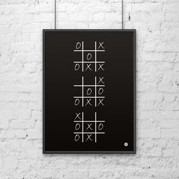 DekoSign Plakat dekoracyjny 50x70 cm KÓŁKO I KRZYŻYK czarny DS-PL4-1 - DS-PL4-1