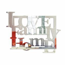 DekoSign Lustro dekoracyjne LOVE FAMILY HOME plexi (DS-L304)