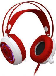 Słuchawki Redragon Sapphire White/Red (QMRGM06EGB00)