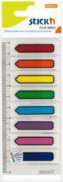 Stickn Zakładki indeks. samoprz. mix 8 kol. neon strzałki (155310)
