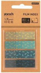 Stickn Zakładki ind. zetki, 4 kolory, bloom (235540)