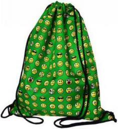 Mesio.pl Worek szkolny plecak Emoji zielony (249224)