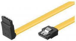 MicroConnect Kabel SATA III, wtyk kątowy, 30cm, żółty (SAT15003A1C6L)