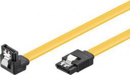 MicroConnect Kabel SATA III, wtyk kątowy,  10cm, żółty (SAT15001A1C6)