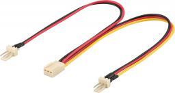 MicroConnect 3 pin - 2x 3 pin, 22cm (PI05063)