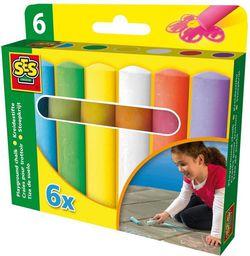 SES Kreda kolorowa do chodników - 6 kolorów  (209211)
