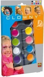 SES Clowny - Farby wodne do malowania twarzy 10 kolorów