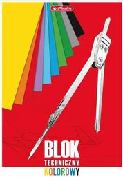 Blok biurowy Herlitz Blok techniczny kolorowy A4/10K 10szt. (191984)