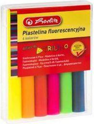 Herlitz Plastelina fluorescencyjna 6 kolorów (215015)